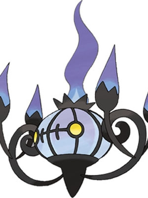 Chandelure wig from Pokemon