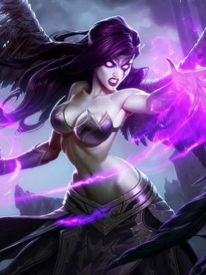 Morgana Fallen Angel wig from League of Legends