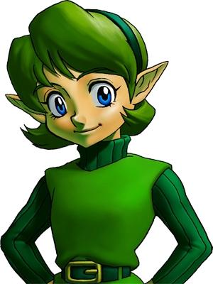 Saria wig from The Legend of Zelda