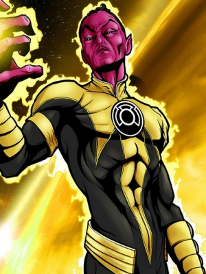 Yellow Lantern wig from Sinestro Corps