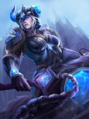 Sejuani the Winter's Wrath wig from League of Legends