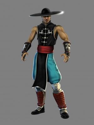 Kung Lao wig from Mortal Kombat