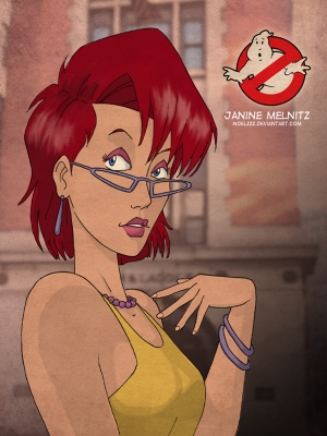 Janine Melnitz wig from The Real Ghostbusters