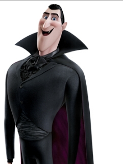 Count Dracula wig from Hotel Transylvania 2