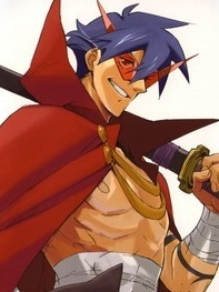 Kamina wig from Tengen Toppa Gurren Lagann Movie: Lagann-hen