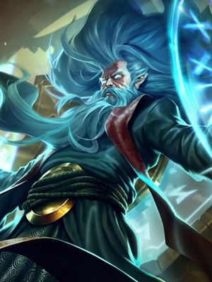 Zilean el Guardián del Tiempo peluca de League of Legends