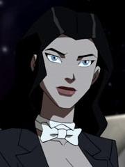 Zatanna Zatara peluca de Justicia Joven