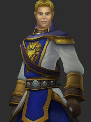 Anduin Wrynn peluca de World of Warcraft