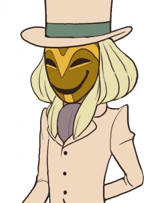 Masked Gentleman wig from Professor Layton