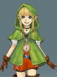 Linkle wig from The Legend of Zelda