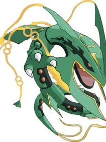 Rayquaza wig from Pokemon