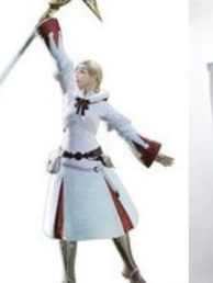 White Mage wig from Final Fantasy XIV