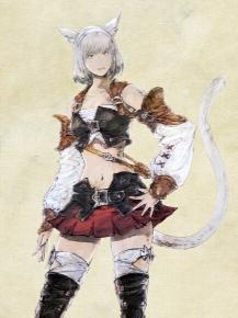 Miqo'te peluca de Final Fantasy XIV