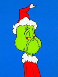 Grinch wig from How the Grinch Stole Christmas
