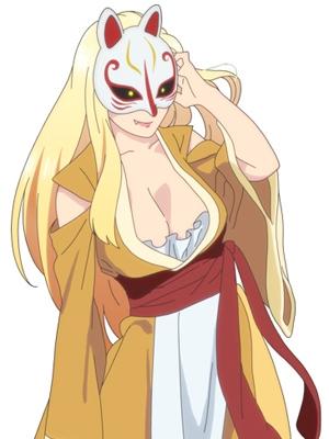 Kitsunemen no Onna peluca de Kiitarou Shounen no Youkai Enikki