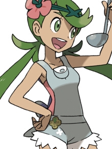 Mallow wig from Pokemon Sun and Moon
