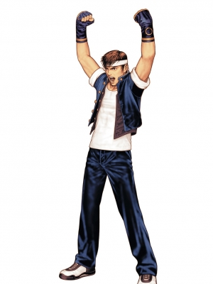 Shingo Yabuki peluca de The King of Fighters