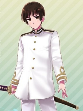 Kiku Honda wig from Axis Powers Hetalia