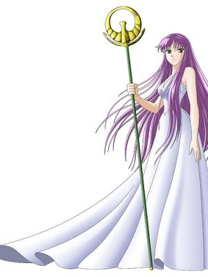Athena wig from Saint Seiya