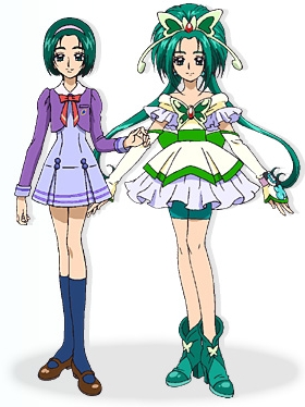 Cure Mint wig from Yes! PreCure 5