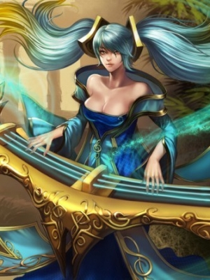 Sona Maven of the Strings wig from League of Legends