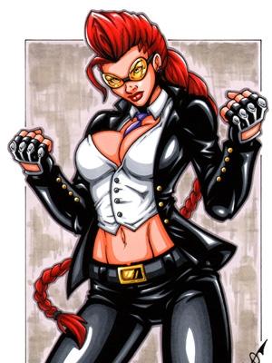 Crimson Viper wig from Street Fighter