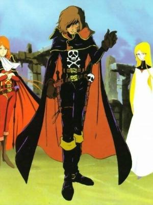 Harlock peluca de Pirata Espacial Capitán Harlock