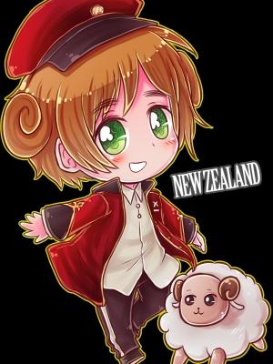 Nueva Zelandia peluca de Hetalia: Axis Powers