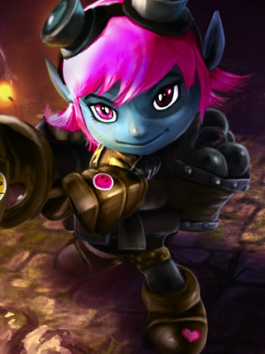 Tristana the Megling Gunner wig from League of Legends