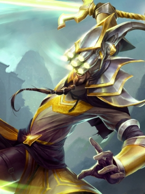 Master Yi the Wuju Bladesman wig from League of Legends