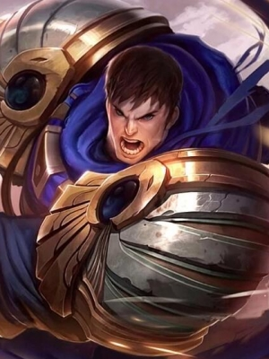 Garen El poder de Demacia peluca de League of Legends