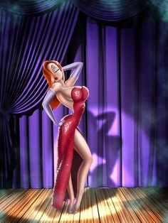 Jessica Rabbit wig from Who Framed Roger Rabbit
