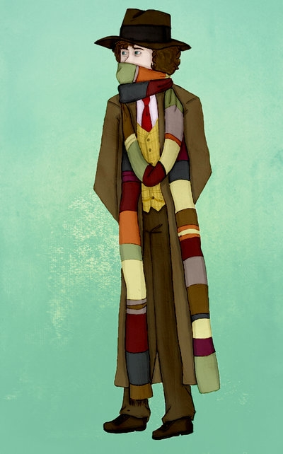 Fourth Doctor Cosplay Costume from Doctor Who