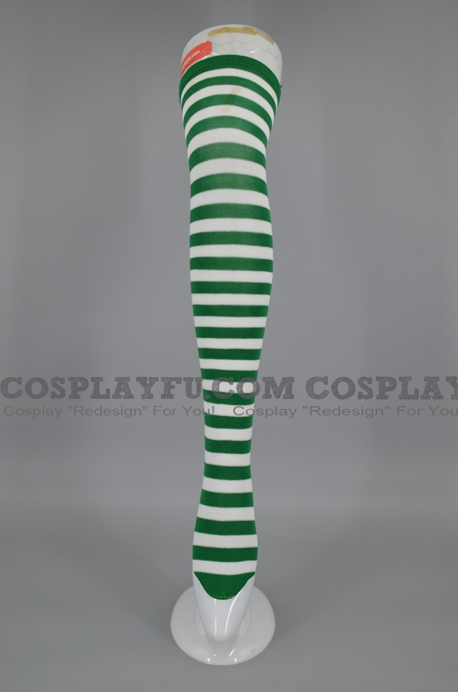 Strümpfe Kostüme (Green and White)