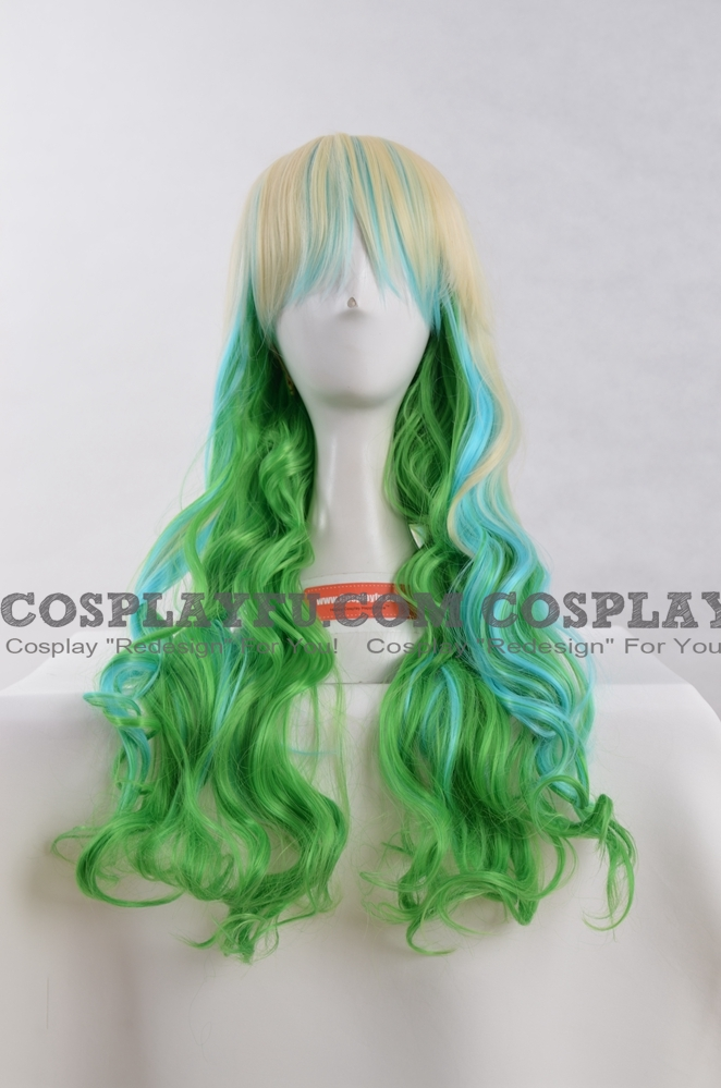 Green Wig (Mixed,Long,Wavy)