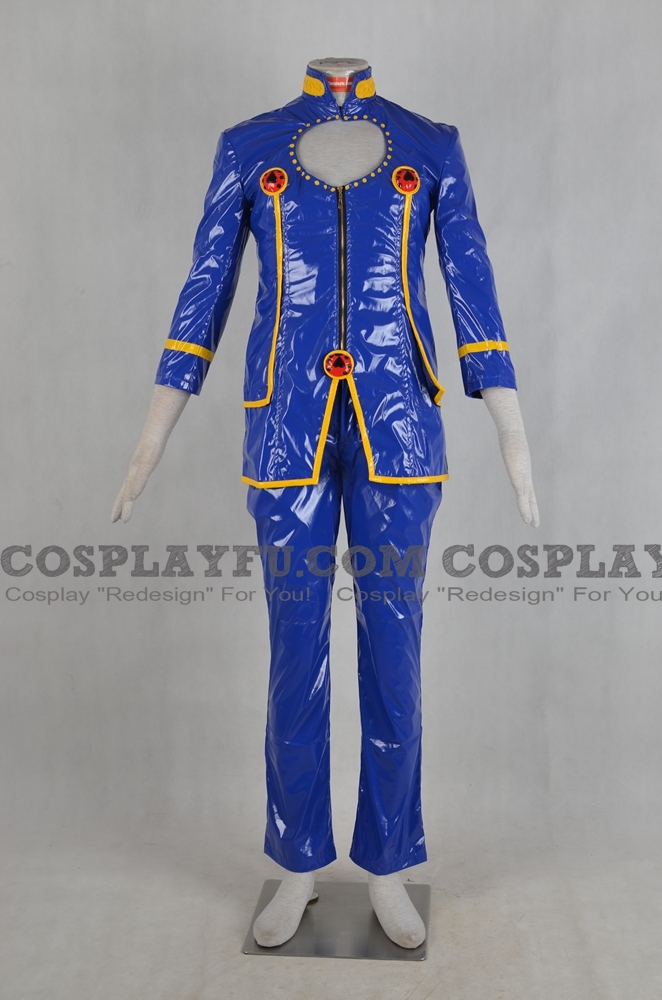 JoJo's Bizarre Adventure Giorno Giovana Costume (Blue Version)