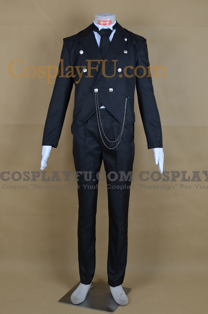 Michaelis Sebastian Cosplay Costume from Kuroshitsuji