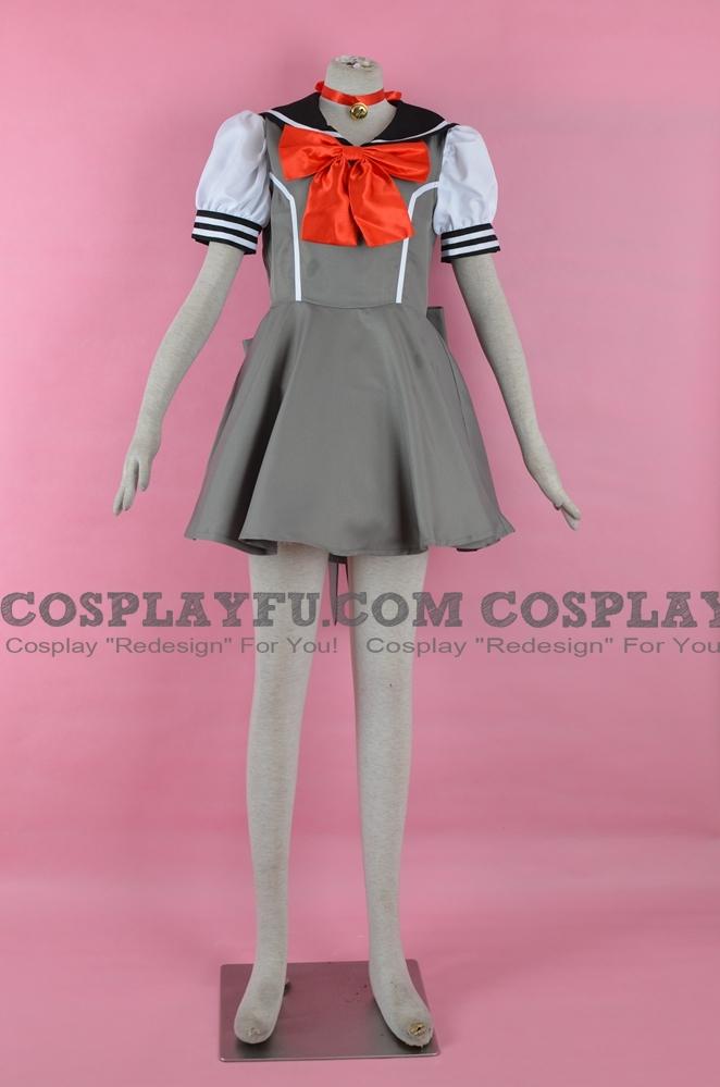 Tokyo Mew Mew Ichigo Momomiya Costume (Summer School Uniform)
