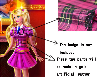 Blair Willows Cosplay Costume from Barbie: Princess Charm School