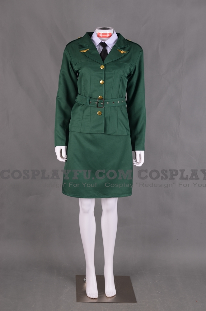 Peggy Cosplay Costume (Green) from Captain America