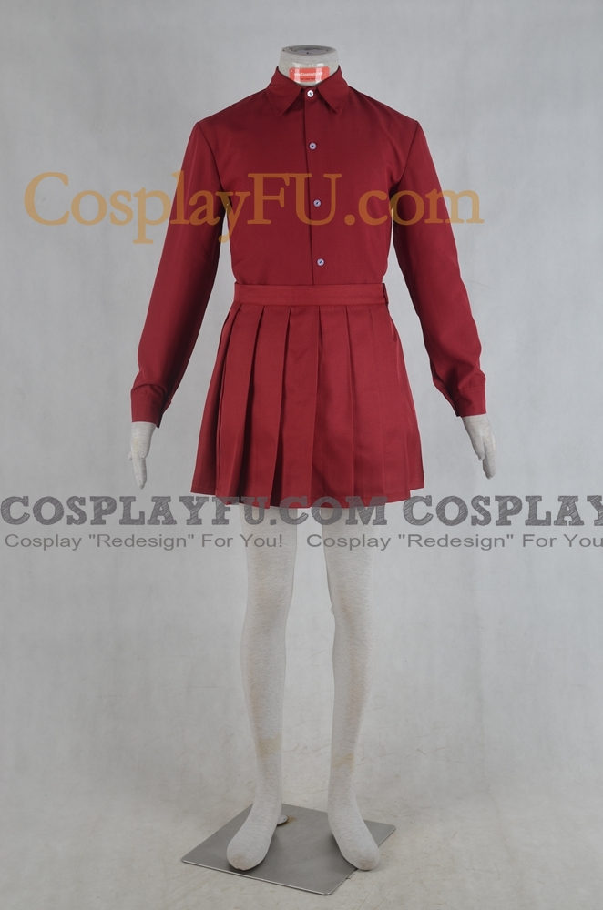 Girls und Panzer Erika Itsumi Costume (Shirt and Skirt)