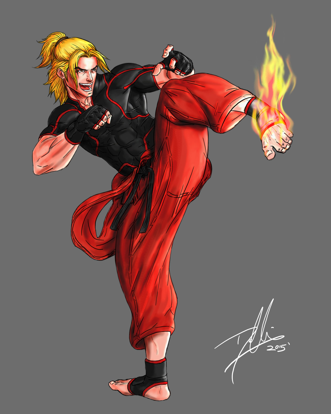 Custom Ken Cosplay Costume From Street Fighter 4 Cosplayfu Com