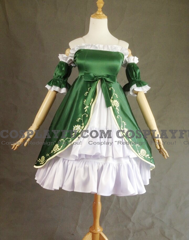 Liechtenstein Cosplay Costume (Green Dress) from Axis Powers Hetalia