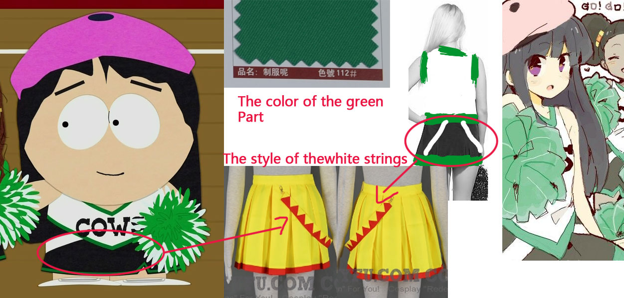 Custom Wendy Cosplay Costume Cheerleading From South Park