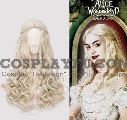 Alice Im Wunderland Hinter Den Spiegeln Weiße Königin Perücke