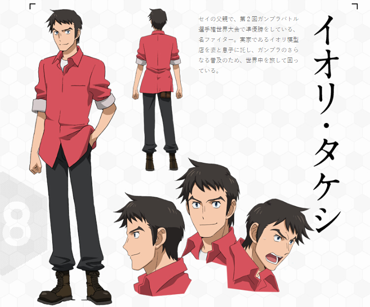 Takeshi Cosplay Costume from Gundam Build Fighters Try