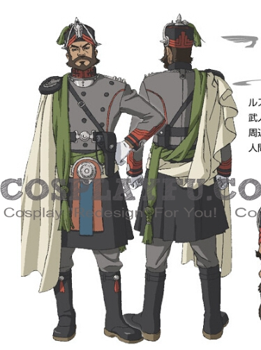 Kayvan Cosplay Costume from Last Exile