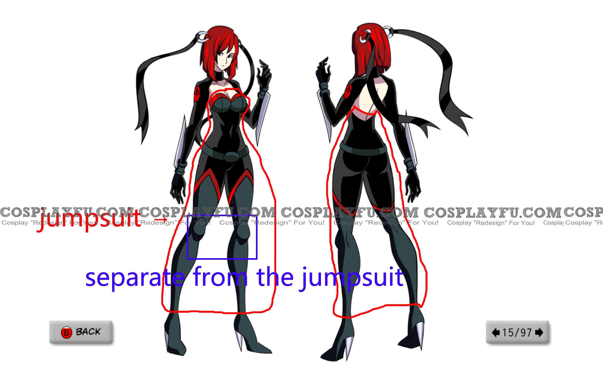 Rayne Cosplay Costume from BloodRayne: Betrayal