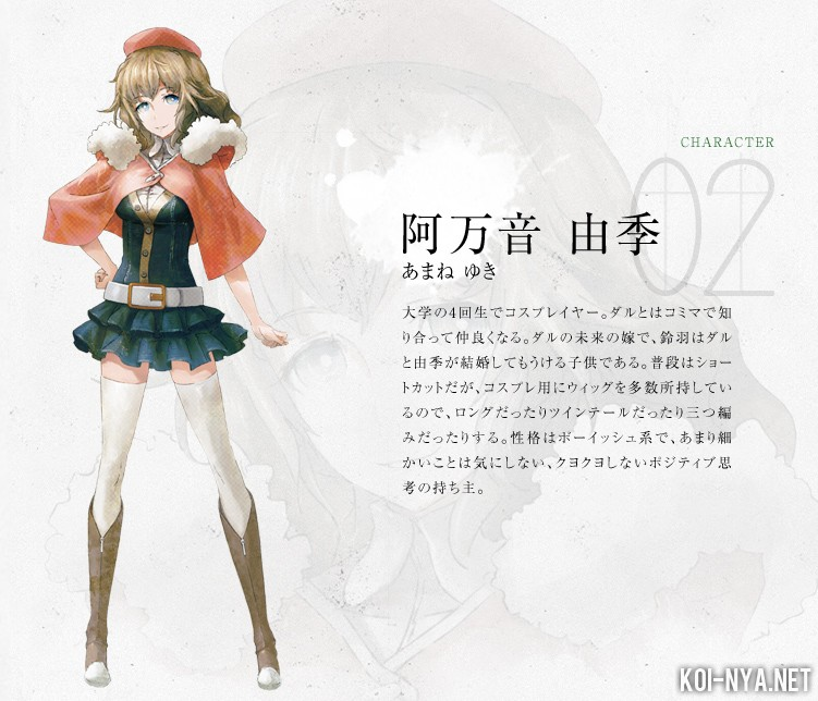 Yuki Cosplay Costume from Steins;Gate 0
