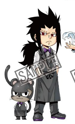 Gajeel Cosplay Costume (Waiter) from Fairy Tail